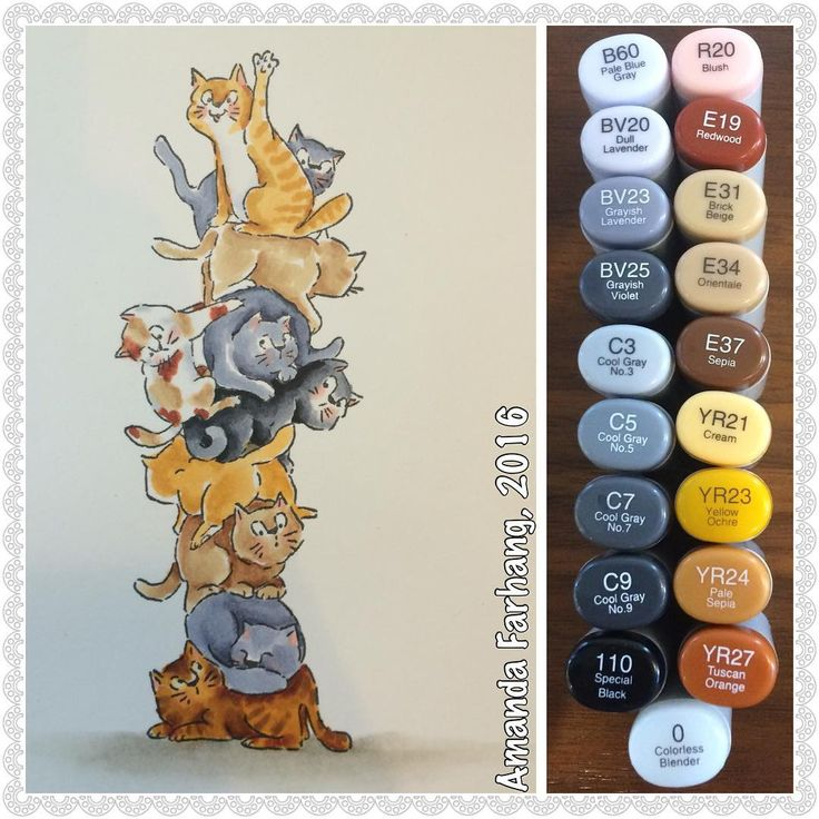 Art Impressions Rubber Stamps: Ai Stackers: Cat Stackers: handmade card.