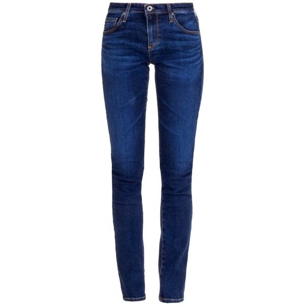 AG Adriano Goldschmied  Blue Legging Super Skinny Jeans ($205) ❤ liked on Polyvore featuring jeans, blue colour jeans, mid rise skinny jeans, 5 pocket jeans, ag adriano goldschmied and ag+adriano+goldschmied jeans