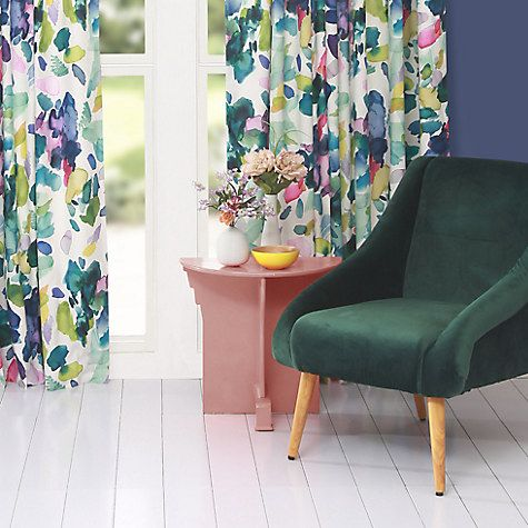 Buy bluebellgray Palette Lined Pencil Pleat Curtains Online at johnlewis.com