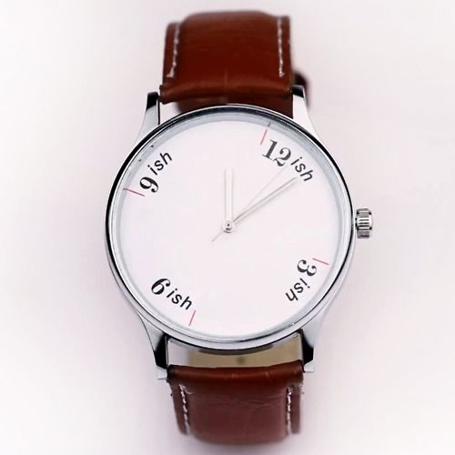 Stretchable Time: The 'ish watch' by HYPHEN   : : :   The product note states: In India, 'fashionably late' is safely replaced with 'predictably late'.