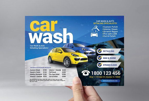 Car Wash Flyer Template Car Wash Posters Car Wash Flyer Template
