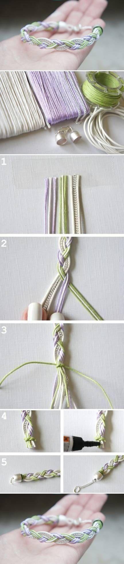DIY Simple Bracelet diy crafts craft ideas easy crafts diy ideas crafty easy diy diy jewelry diy bracelet craft bracelet jewelry diy