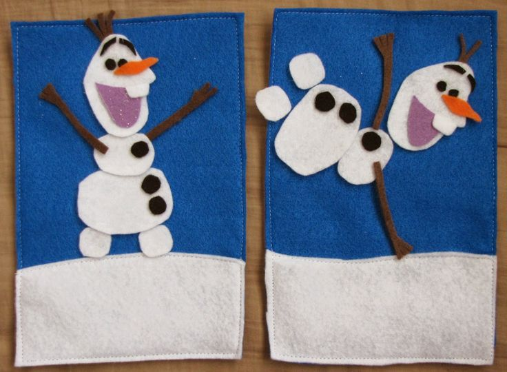 Do you want to build a snowman? Felt playset to make for your child! Hello, Olaf!