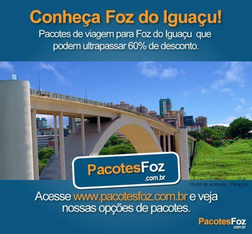 Já decidiu para onde você vai viajar nessas férias? Acesse www.pacotesfoz.com.br  Clique e conheça as melhores opções de passeios e hospedagem em Foz do Iguaçu    #conheçaFozdoIguaçu Acesse http://www.pacotesfoz.com.br e curta nossa fan page - https://www.facebook.com/pages/PacotesFoz/232694180173736?fref=ts