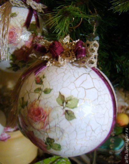 Новый год 2016 ручной работы. Ярмарка Мастеров - ручная работа. Купить Шар новогодний. Handmade. Комбинированный, бохо, Шар пластиковый