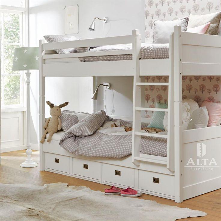 Meer dan 1000 idee n over meisjes stapelbed op pinterest stapelbed college slaapkamer decor - Stapelbed met opslag trappen ...