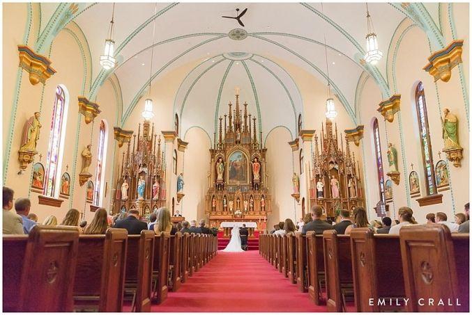 Brown Deer Golf Club summer wedding; purple & yellow wedding colors; military wedding; St. Mary's Catholic Church in Iowa City wedding