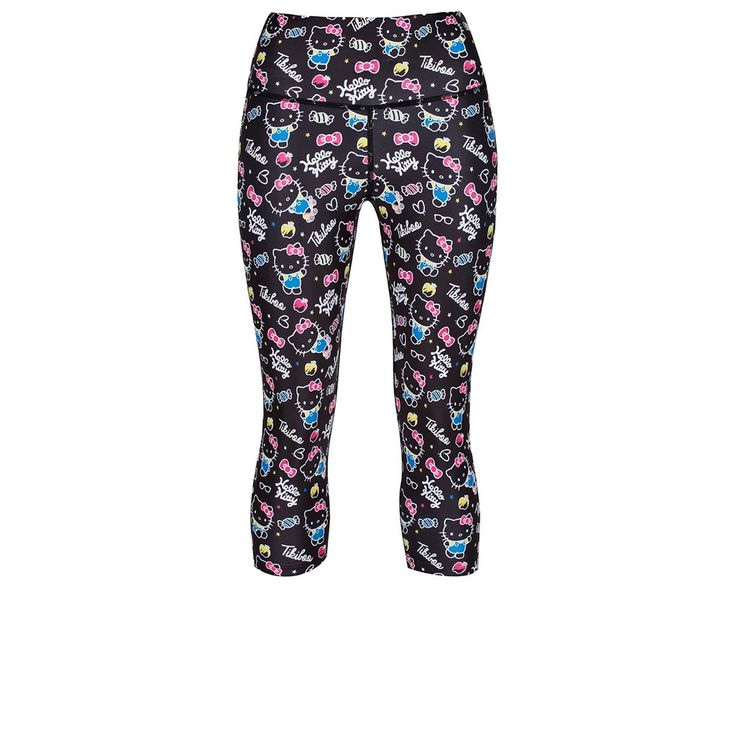 Stunning pair of ¾ workout leggings are ideal for any workout. With their standout design and highly sought-after Hello Kitty theme, these funky leggings will soon become your go-to for any gym session.  Similar to the full-length variation, these capri Hello Kitty workout leggings are also made with breathable fabric that allows a full range of motion in the gym. They come complete with our signature thick waistband for added support, as well as double-lined. #HelloKitty