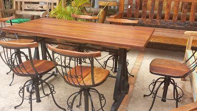 CELEIRO MINEIRO MÓVEIS Rústicos e Decoração : Mesa rústica cumaru com ferro