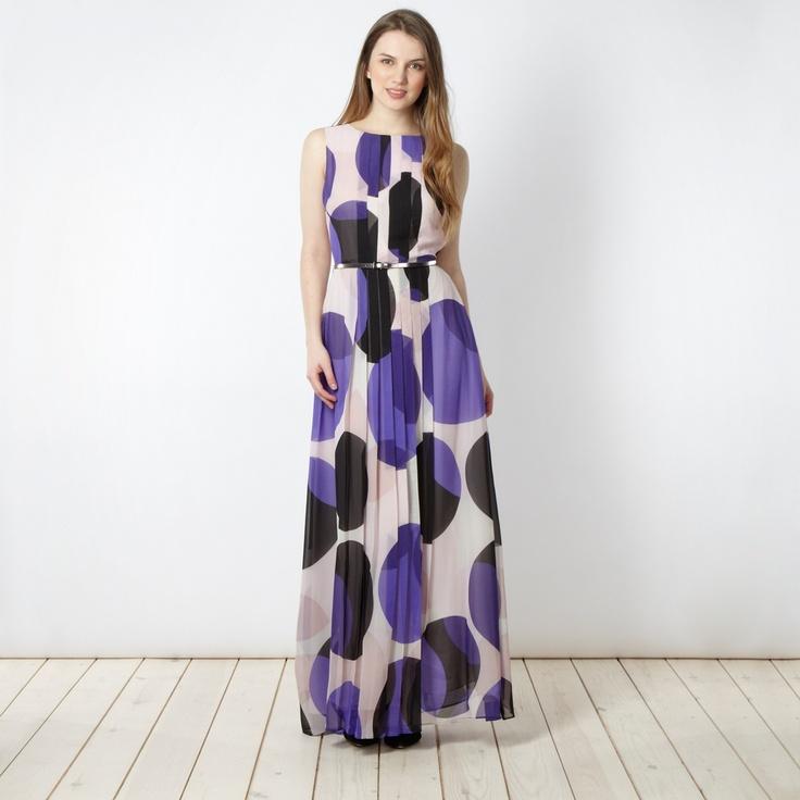 Jonathan Saunders/EDITION Designer purple belted spot maxi dress- at Debenhams.com