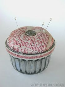 Stamptramp: Vintage Jelly Jar Pincushion + Eclectic Elements Inspiration!