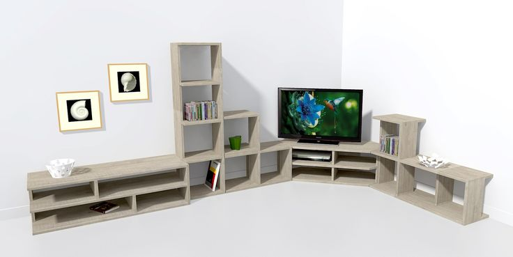 Meuble télé d'angle 140 cm
