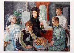 Tove Jansson's FAMILY portrait postcard