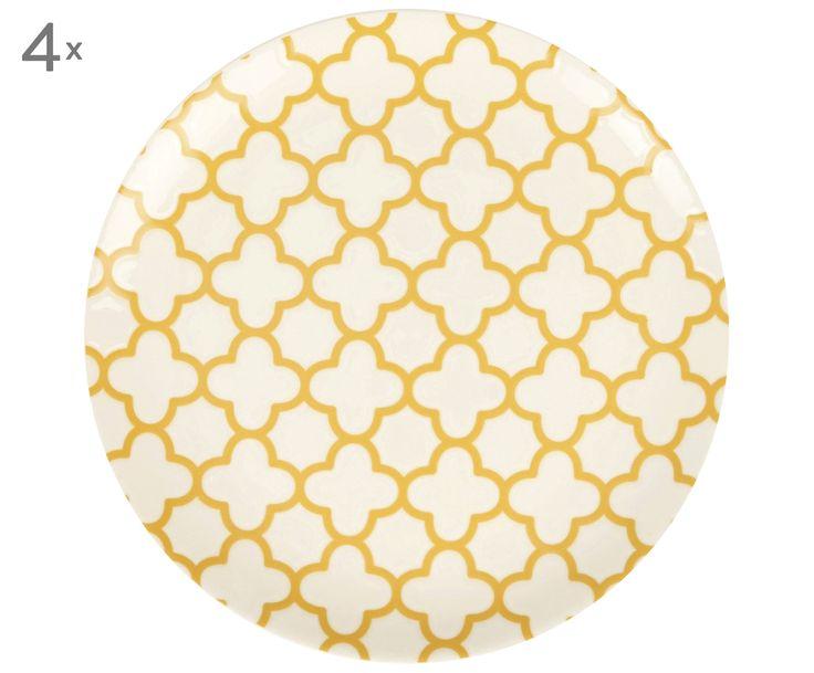 Decken Sie Ihre Tafel mit portugiesischem Flair und den Speisetellern RAFAELLA. Das 4-teilige Set stammt aus dem wunderschönen Portugal und besteht aus edlem Steingut. Mit dem handbemalten Quatrefoil-Muster sorgen Sie nicht nur für außergewöhnliches Design, sondern verleihen Ihrem Gedeck zugleich einen südländischen Touch. Kombinieren Sie die stylischen Teller mit den passenden Schüsseln und Tassen aus der gleichnamigen Serie und bringen Sie Ihr Esszimmer mit RAFAELLA zum Strahlen.