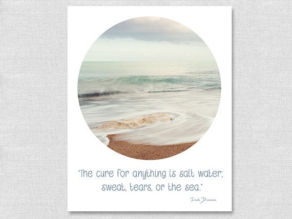 Beach Quote Decor Beach Wall Art by GreenGooseGallery on Etsy, $35.00