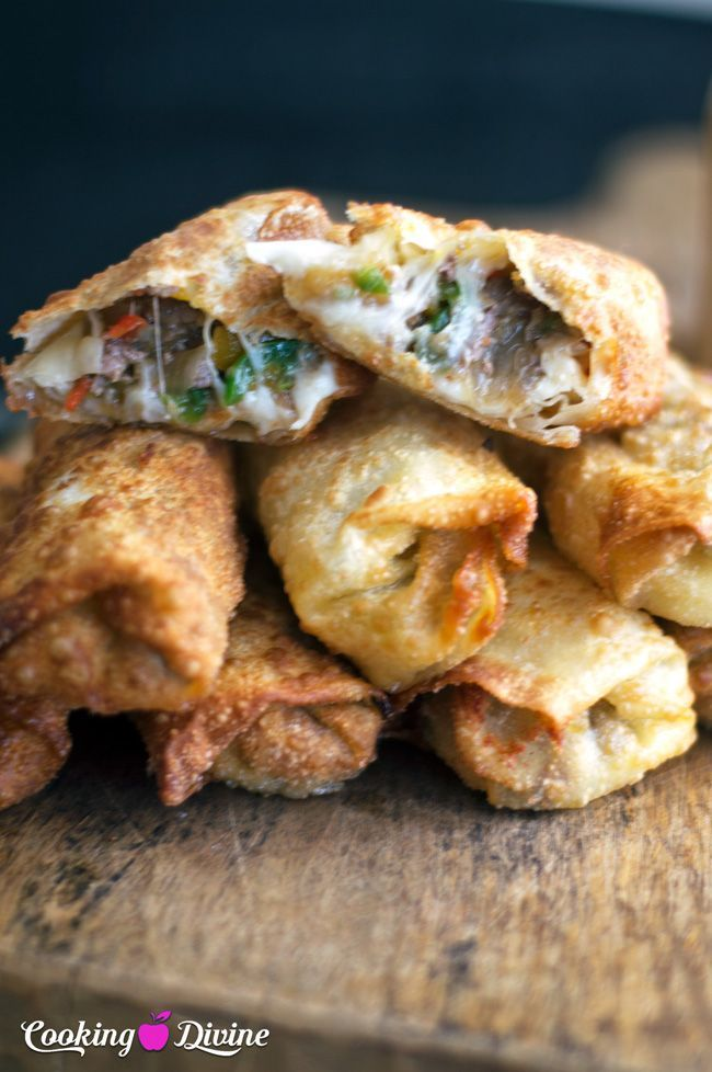 Philly Cheesesteak Egg Roll Recipe:  Just in time for Super Bowl Sunday!  This is one of the all time best appetizers and tastes absolutely amazing!
