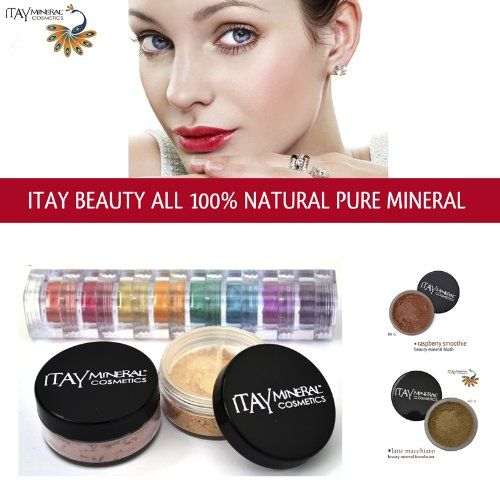Itay 100% Mineral Foundation MF6 'Latte Macchiato' + 8-stack 100% Mineral Eyeshadow 'Carribean Samba' + * * ITAY 100% Mineral Blush MB6 'Raspberry Smoothie'. Latte Macchiato' Foundation 9gr MF6 + 'Carribean Samba' 8-stack Eyeshadow 8x1.75gr + * * Full-Size 9gr Blush MB6 'Raspberry Smoothie'. ITAY 100% Mineral Foundation is also water-resistant, so it will last you all day and night. Eyeshadows can also be applied to Lips, Face, and Hair to create strikingly divine and natural beauty!....