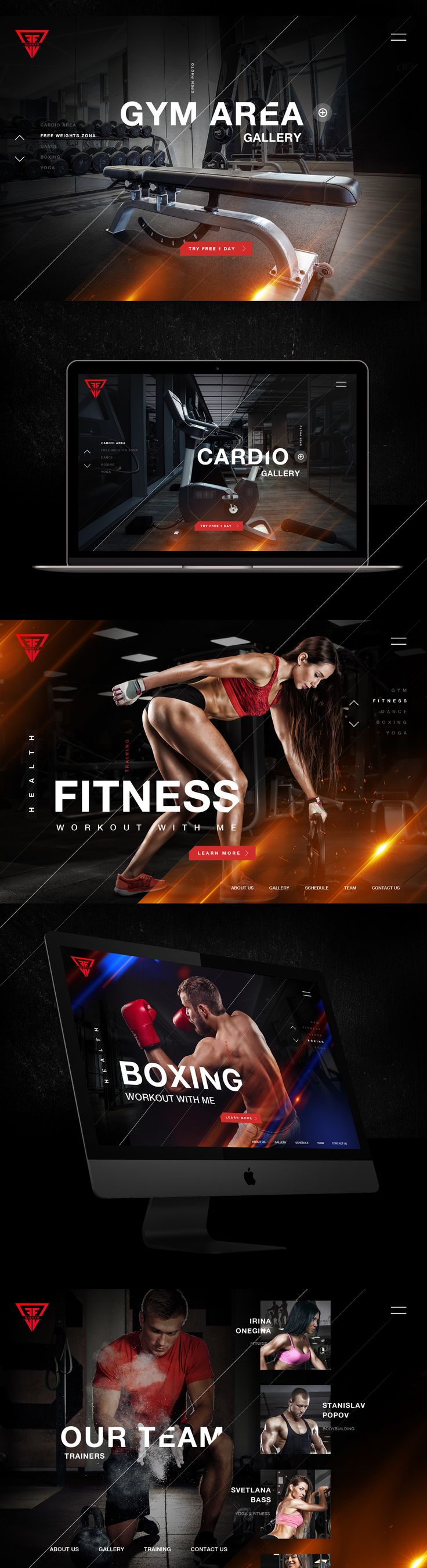 Web design conception fitness and training
