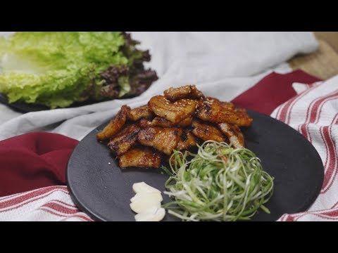Grilled spicy Pork belly / 고추장 삼겹살 구이
