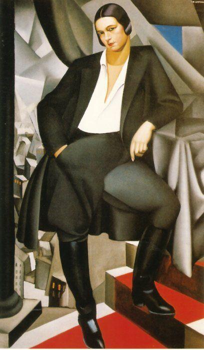 Tamara de Lempicka: Portrait of the Duchess of La Salle, 1925.