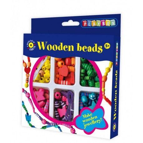 Gioco creativo giocattolo set kit bijoux con le perline di legno per bambini