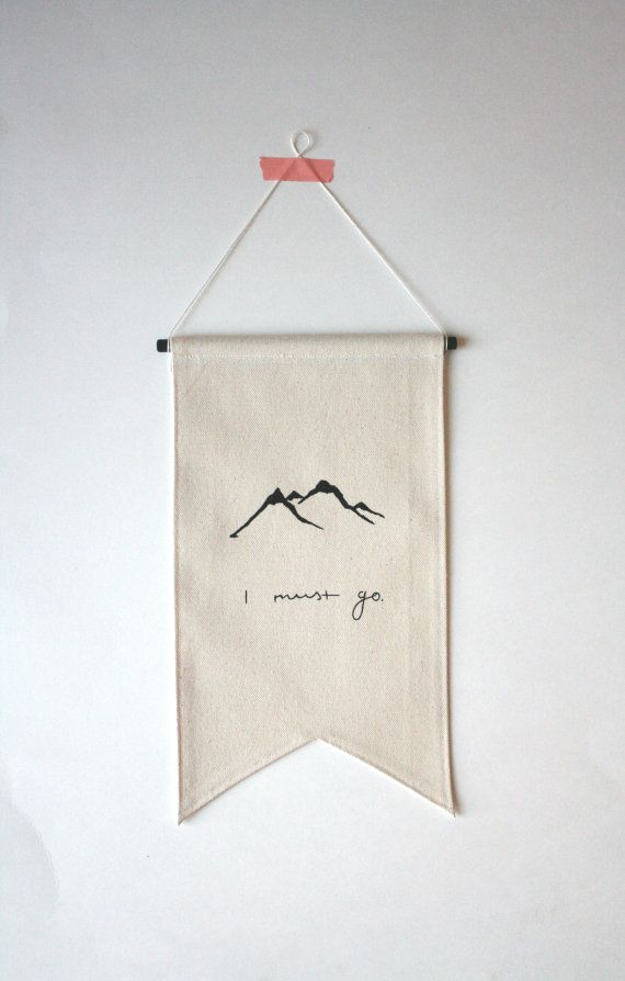 Mountains Banner Small Canvas Banner by smallbranches on Etsy