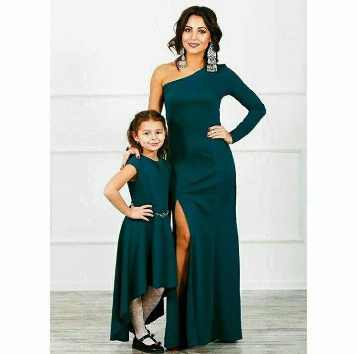 8f749d137e5c Комплект одинаковых платьев мама-дочка из трикотажа - Интернет-магазин  одежды и обуви от