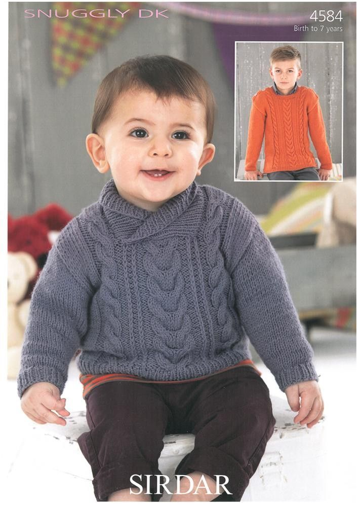 Babies and Boys Sweaters in Sirdar Snuggly DK