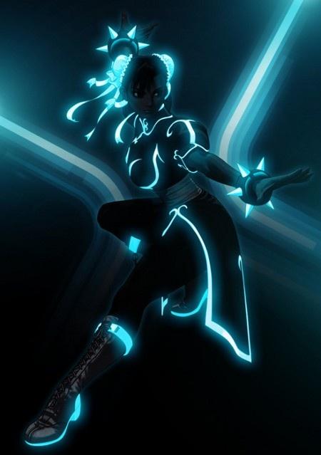 Chun-Li (Street Fighter / Tron)