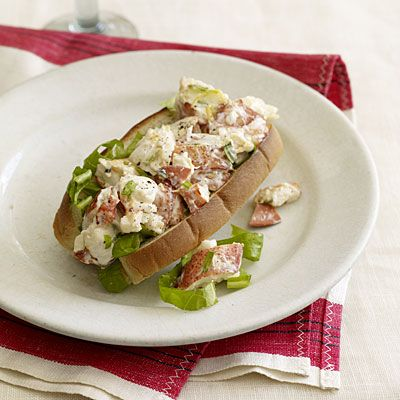 Mark Bittman's Seafood Made Light: Lemon-Tarragon Lobster Roll.Lights Recipe, Seafood Recipes, Black Peppers, Lemon Zest, Lobsters Meat, Bittman Seafood, Lemon Tarragon Lobsters, Dogs Buns, Cooking Lobsters