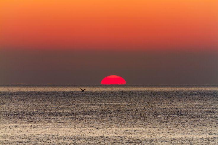 Sunrise - Beautiful sunrise light in autumn over the lake