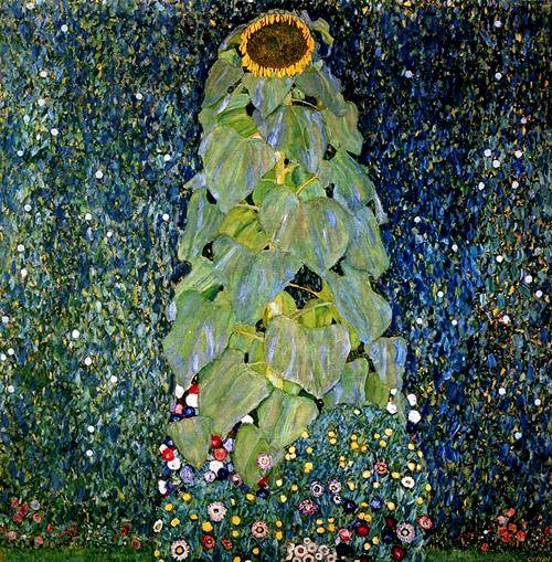 petitpoulailler:    interwar: 1907Gustav Klimt (Austrian Symbolist, 1862-1918) ~The Sunflower; oil on canvas