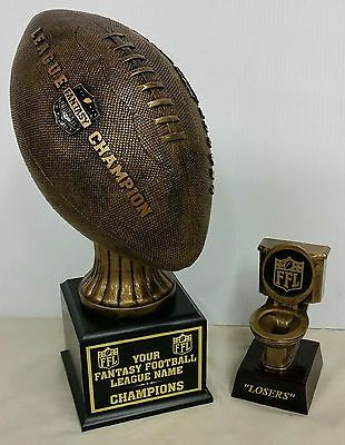 Other Football 2024: Winner And Loser Fantasy Football Trophies Toilet 16 Year Champ Trophy Bonus! -> BUY IT NOW ONLY: $99 on eBay!