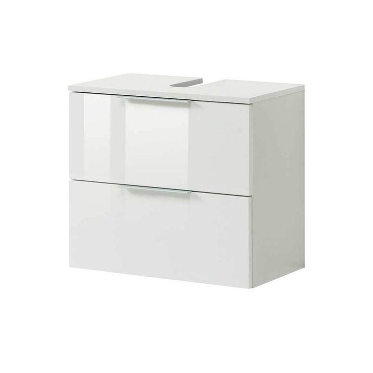 Die besten 25+ Waschbeckenunterschrank weiß hochglanz Ideen auf - badezimmer kommode weiß