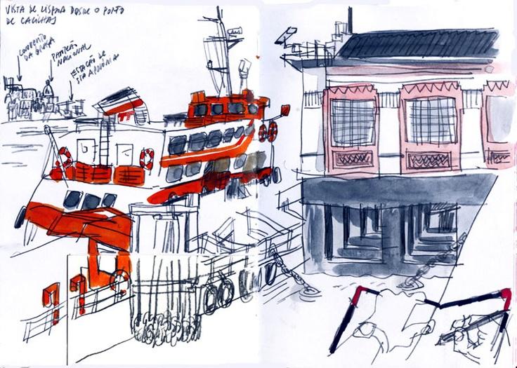 Diário de Viagem em Lisboa - Sete colinas, sete desenhadores | Lisbon Sketchbook - Seven Hills, Seven Sketchers from Eduardo Salavisa