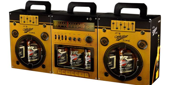 Miller Boom Box - how cool is this? I would absolutely purchase this beer (even though I don't like it) just because the packaging is awesome.