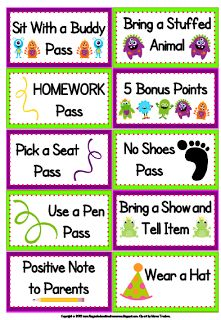Learning With Firsties: Class Dojo and My Firsties. Free printable rewards