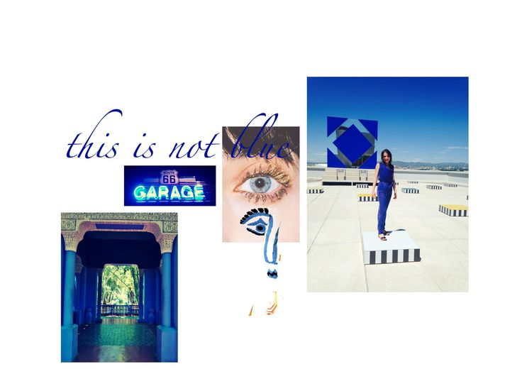 This is not blue moodboard