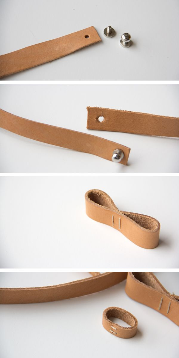 DIY Leather Bow Belt