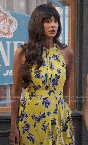 97e5b230 Eliza J Halter Ruffle Maxi Dress Regular amp Petite in 2019 | Worn on tv |  Dresses, Floral, Yellow