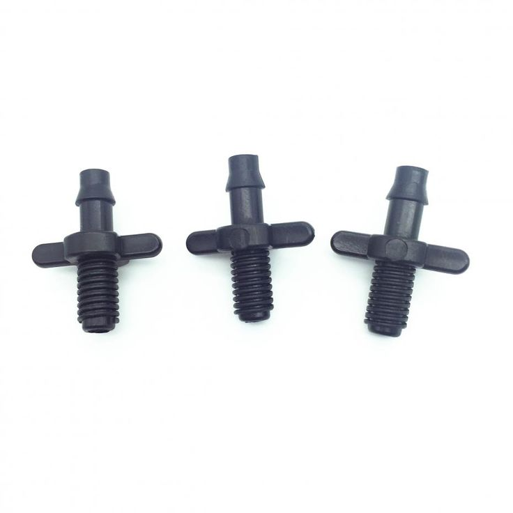 "30PCS 1/4 ""Double Barbed Connector Double Ways 6mm Screw Thread micro irrigation flowers vegetables Drip Articles"