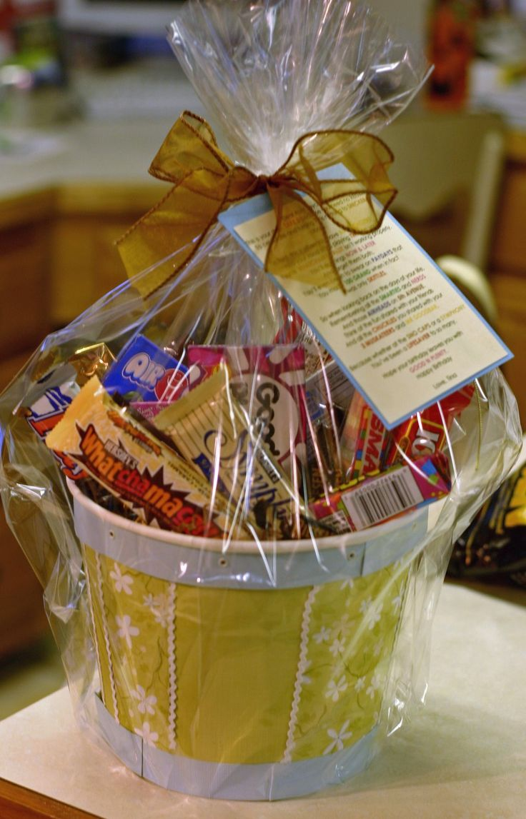 Birthday Basket with very cute poem about turning 40 - poem could represent a wide variety of ages 50, 60, 70 etc....