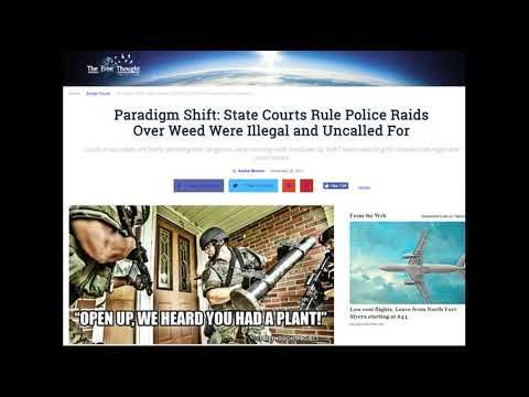 FLORIDA & MICHIGAN State Courts Rule Police Raids Over Weed Were Illegal...