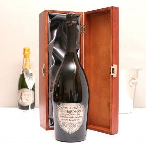 Personalised Mr And Mrs Magnum Prosecco With Pewter Label - GiftsOnline4U