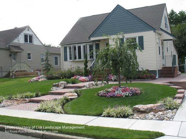 Small Front Yard Landscaping Before And After : Front yard landscape designs with before and after