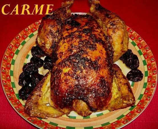 Pollo de Navidad relleno a la catalana
