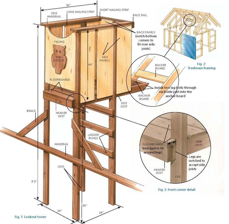 Tree House Plans Free | Right Click on Image, and Select View as Image or Save As to See the ...