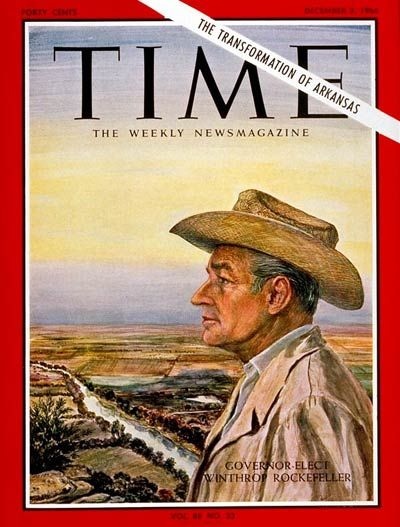 TIME Magazine (Winthrop Rockefeller) -- Dec. 2, 1966