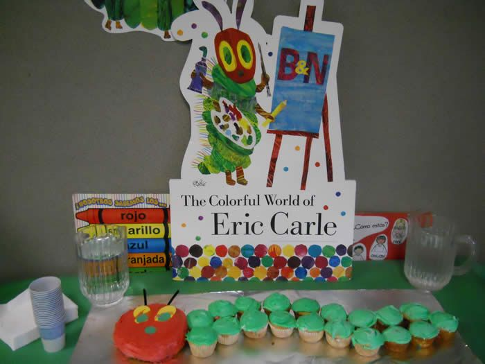 Very hungry caterpillar for W's first bday cake.