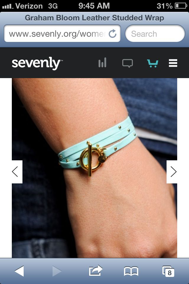 Love this turquoise leather wrap